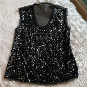 W118 by Walter Baker Sequin Scoop Neck Tank